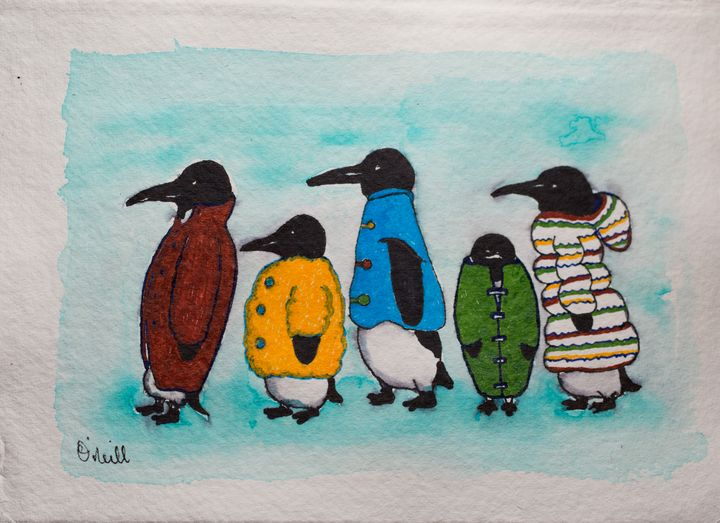 Penguins in Coats - Machale O'Neill