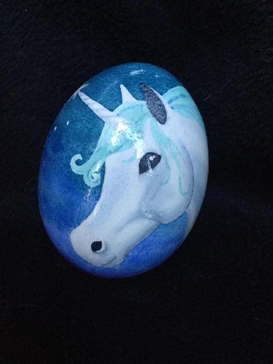 Unicorn Dream - Pysanky by Fiona