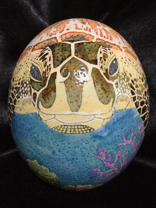 Sea Turtle Swim - Pysanky by Fiona