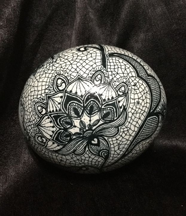 Midnight Lace - Pysanky by Fiona