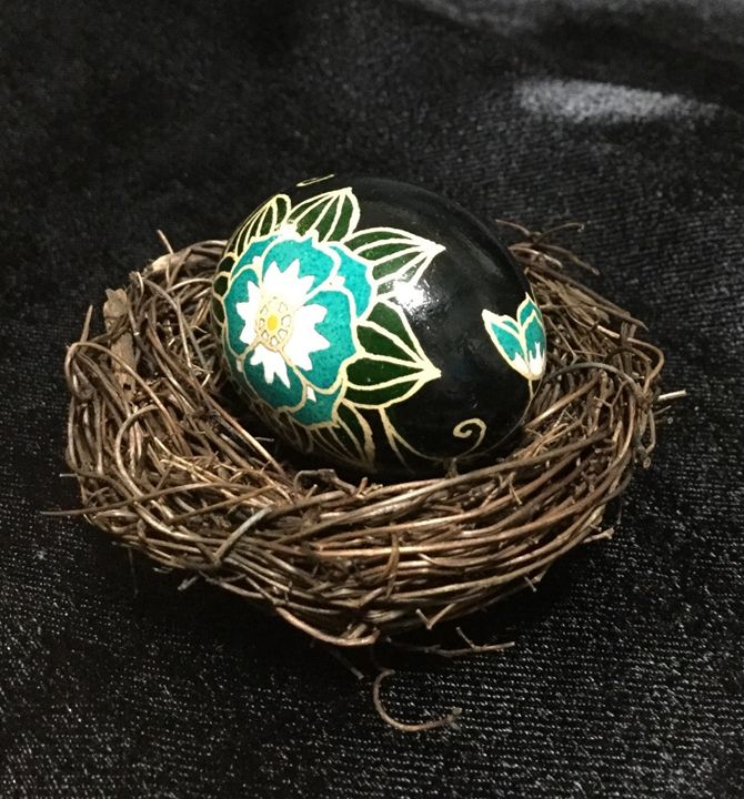 Lotus Flower - Pysanky by Fiona
