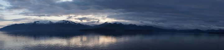 Sunset Panorama Alaska Leaving Junea - Shredwear Photography