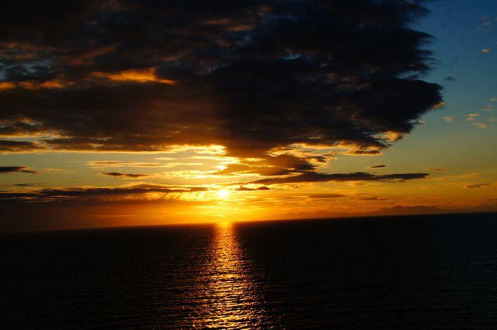 Sunset Alaska Inside Passage Entry - Shredwear Photography