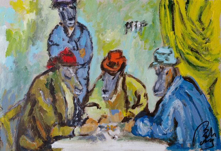 The card Players. Satiric Paintings - BACHMORS