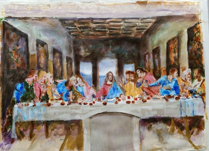 Last supper.Leonardo Da Vinci.Sketch - BACHMORS