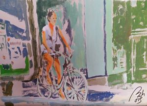 Girl on bike - BACHMORS