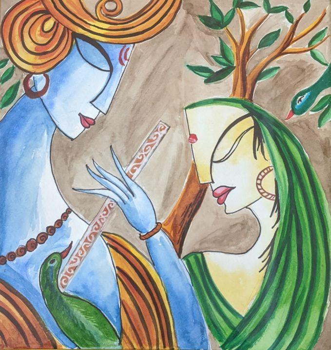 Krishna and Radha - atibhi
