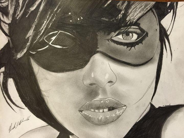 Masked vixen - Michael J Adams art