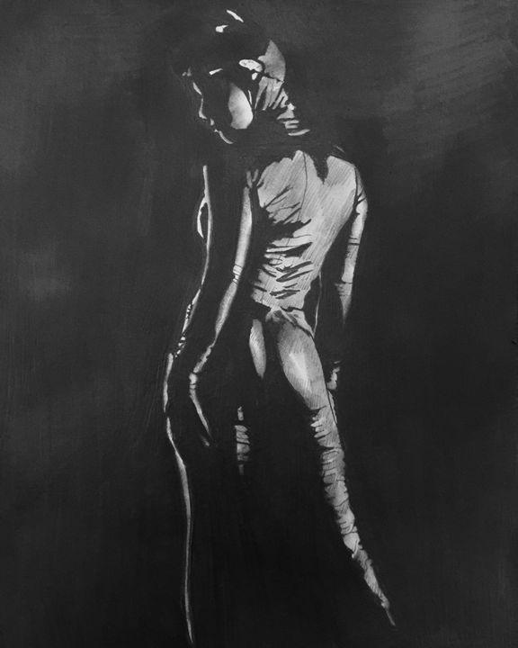 Catwoman stance - Michael J Adams art