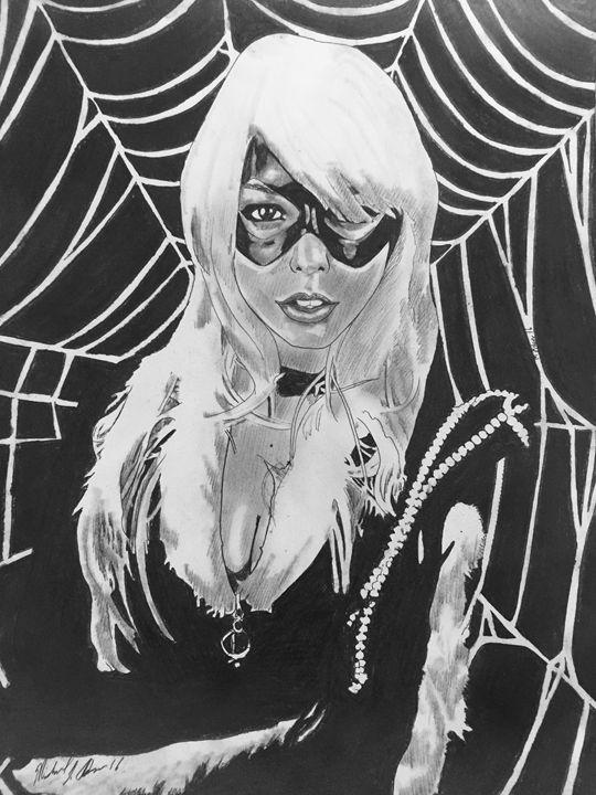 Webbed Blackcat - Michael J Adams art