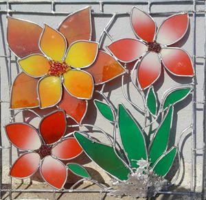 flowers - glass