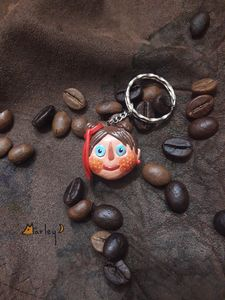 Handmade polymer clay key chain