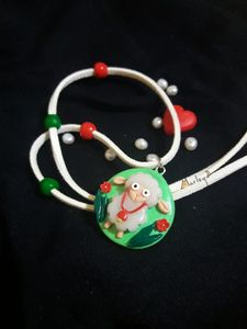 Necklace sheep with red bell - Marley Art