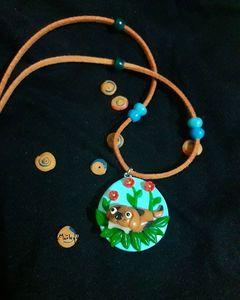 Handmade puppy pendant - Marley Art