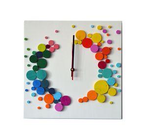 Rainbow expanse / 3D clock/ 35x35 cm