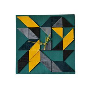 Sparkle / wood wall clock 35x35cm