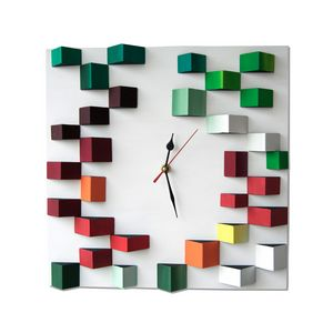 Spring / 3d wood wall clock 35x35 cm