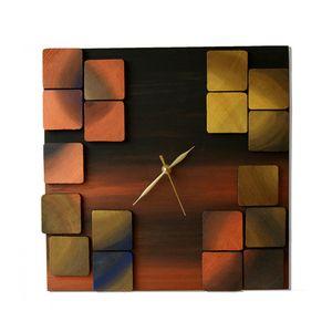 Mystic Metal / 3d wood clock 35x35