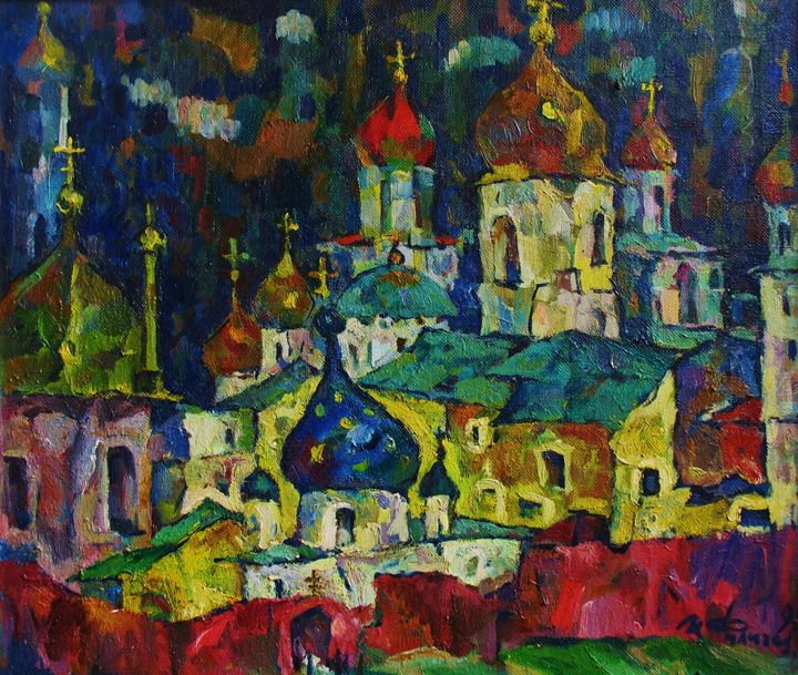 Golden Domes - Ivan Filichev Art