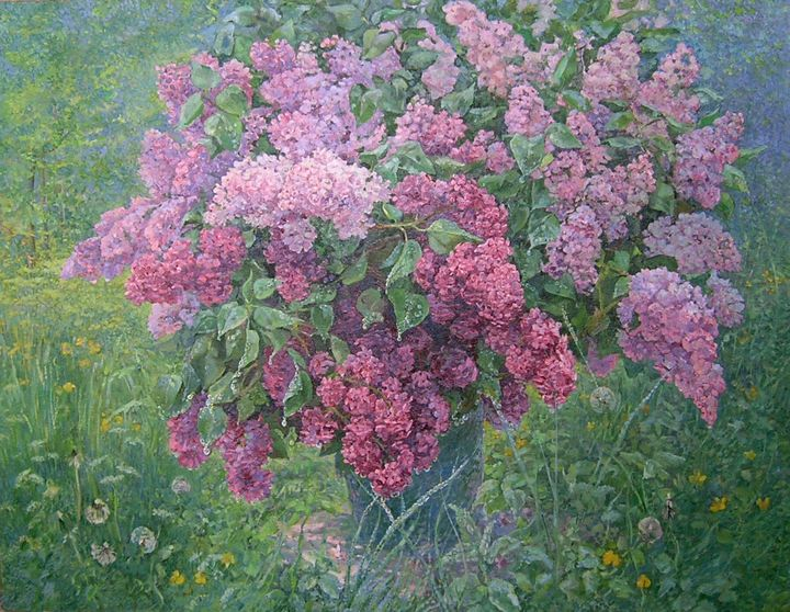Lilac Still Life_oil on canva - Aleksandr Dubrovskyy