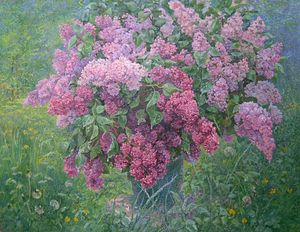 Lilac Still Life_oil on canva