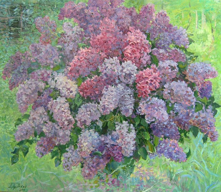 Lilac in the garden - Aleksandr Dubrovskyy