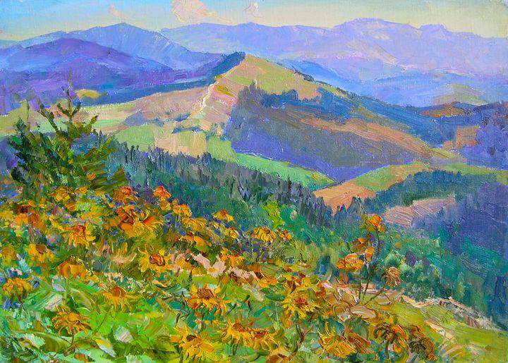 Flowers blossom In the meadows - Aleksandr Dubrovskyy
