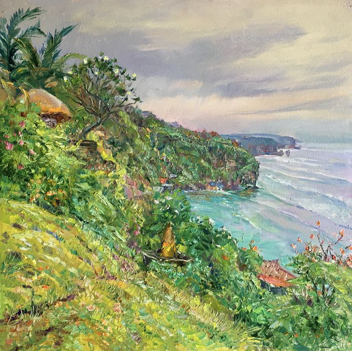Blooming Frangipani trees - Aleksandr Dubrovskyy