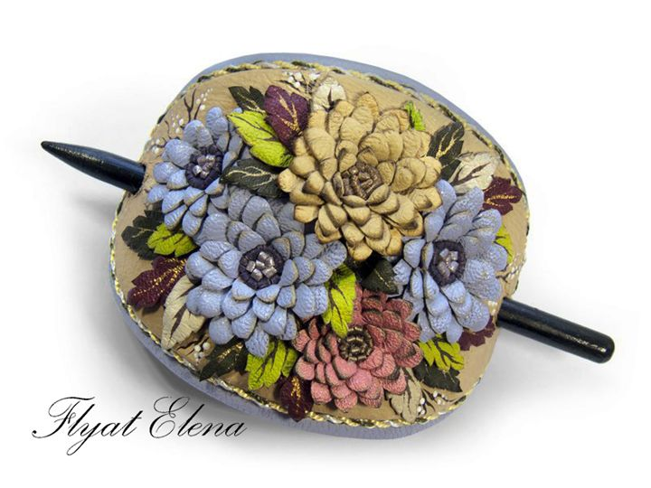 Hairpin for hair leather - HFJewelleryShop