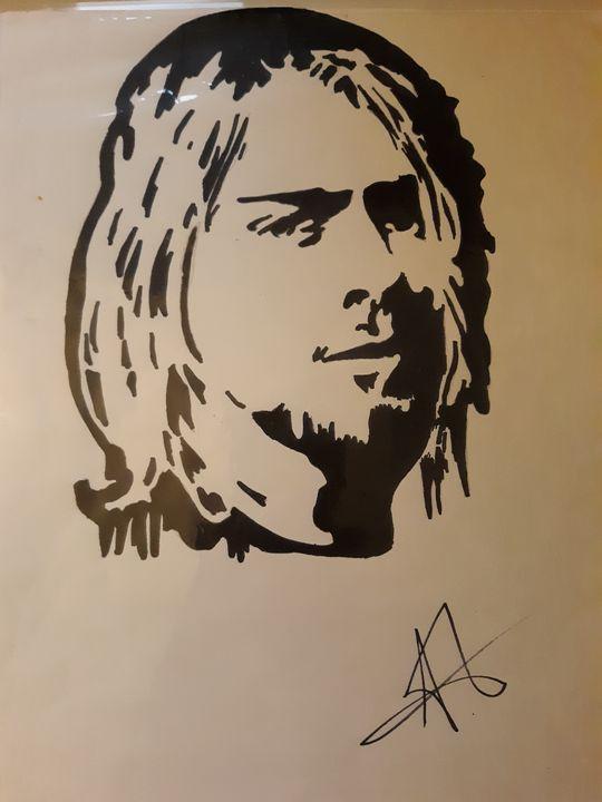 Cobain silhouette - Justin Seavers