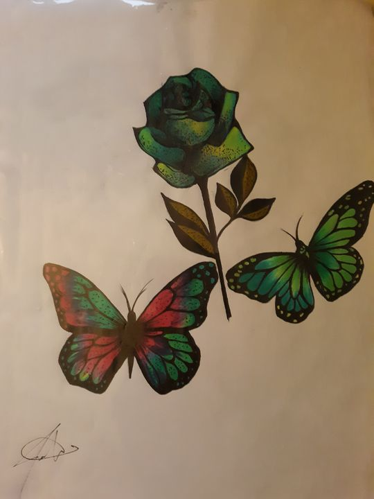 Butterflies over Rose - Justin Seavers
