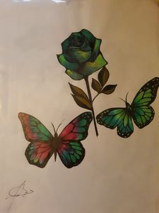 Butterflies over Rose