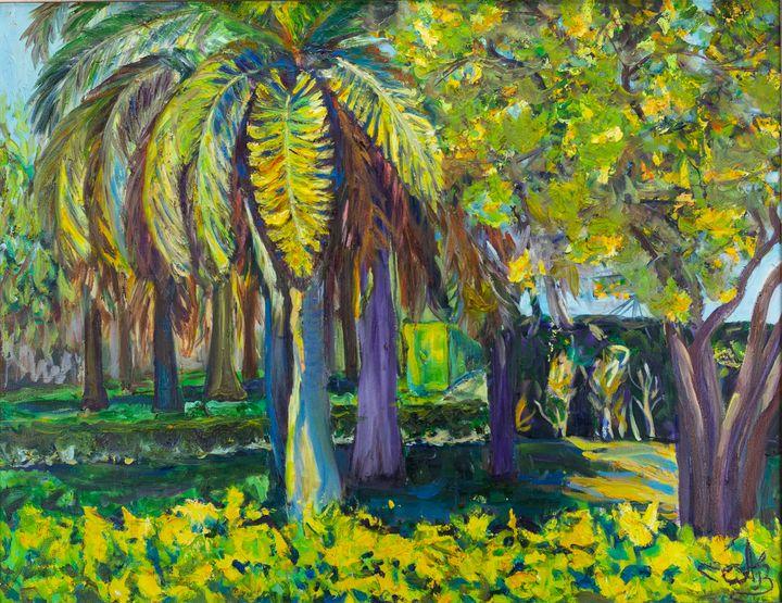 Palm trees - Hanna Churiukina