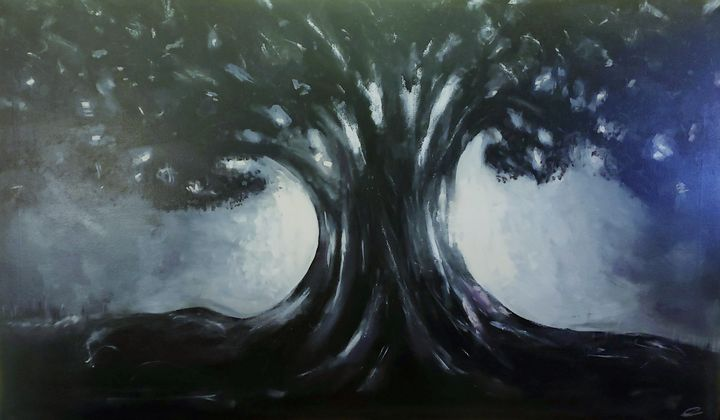 Tree in Moonlight - Christopher B. Brown