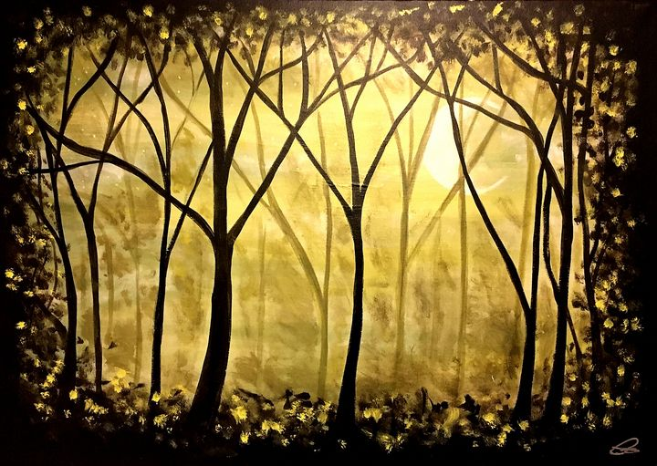 Sunrise Through The Trees - Christopher B. Brown