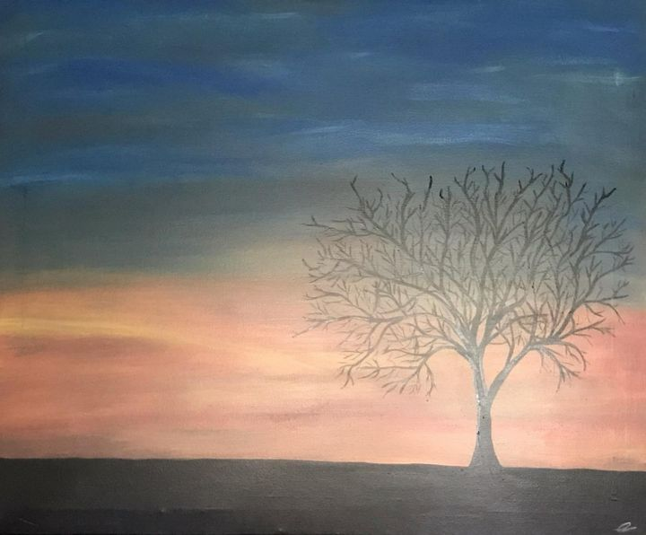 Tree at Dusk - Christopher B. Brown