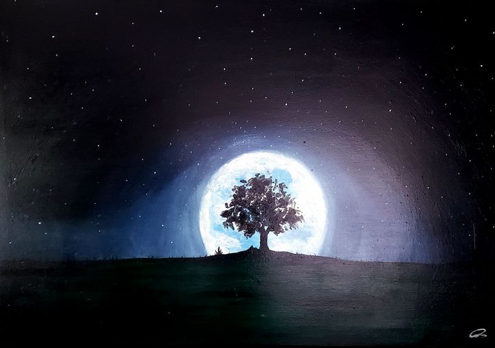 Tree in the moonlight - Christopher B. Brown