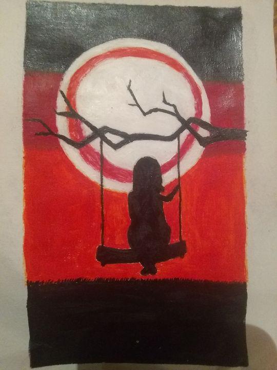 Girl on swing - Selene c