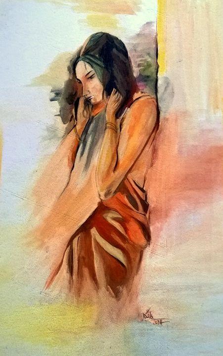 Feeble Mind- Original Painting - InspiredArt by Neeta