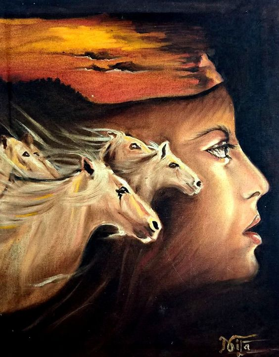 The War Head-Classic Oil Painting - InspiredArt by Neeta