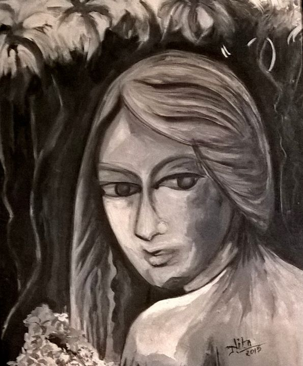 Chalk & Charcoal- Original Art - InspiredArt by Neeta