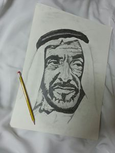 Sheikh  Zayed sketch drawing