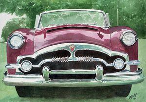 Red 1953 Packard