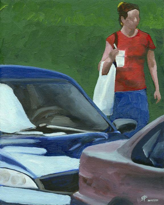 Woman with Cup, Alderson Street - SBoksenbaum