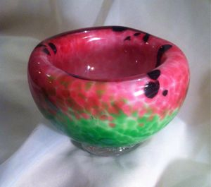 Luscious Glass Art Watermelon Bowl