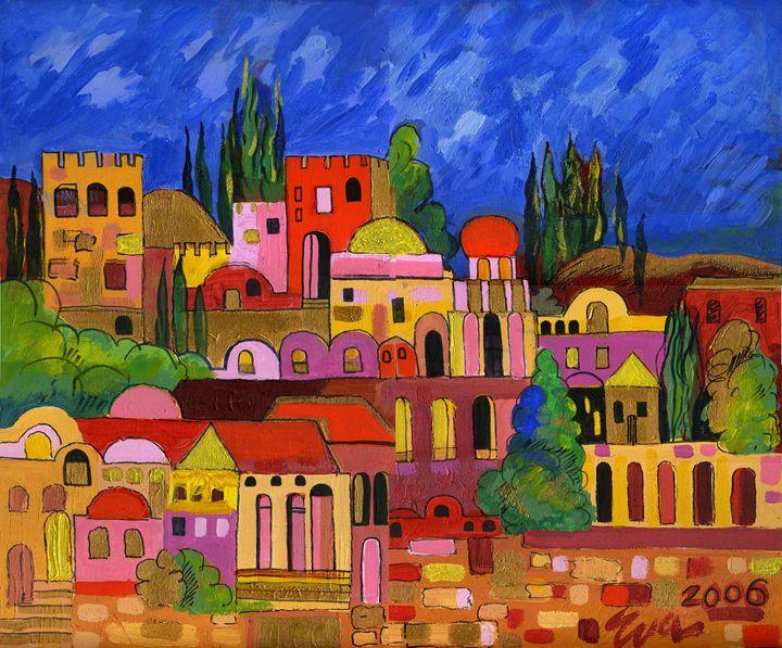 City on the Hill - Eva Deutsch Art