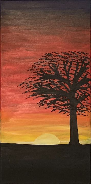 Vertical African Sunset - Marsha's Creative Corner