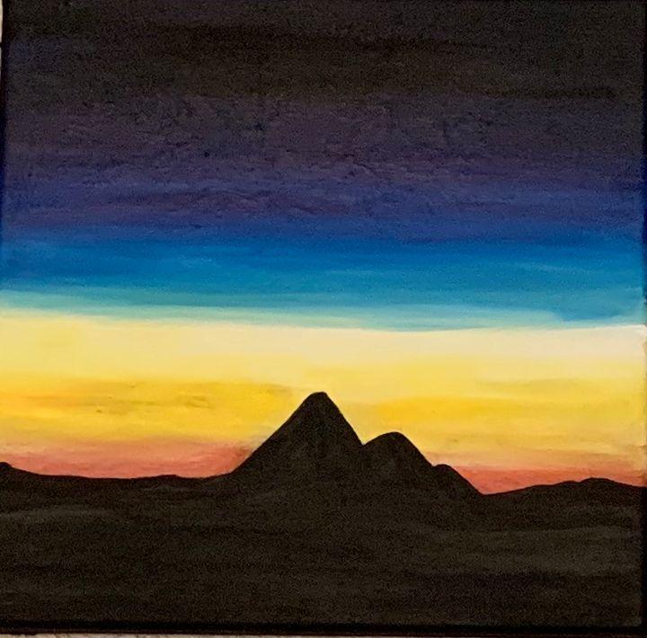 Small Mountain Sunset - Marsha's Creative Corner