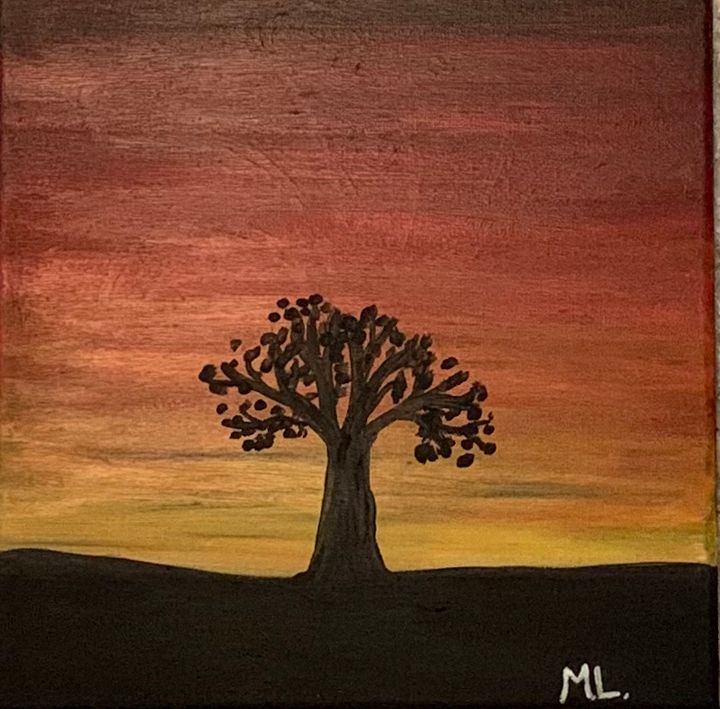 Small African Sunset Abstract - Marsha's Creative Corner