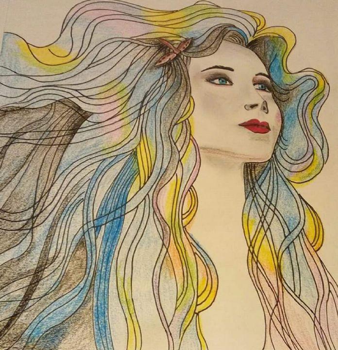 rainbow women - women's heart